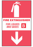 Fire Extinguisher Sign, For Liquids and Gases