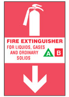 Fire Extinguisher Sign, For Liquids, Gases And Ordinary Solids
