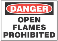 Danger Sign, Open Flames Prohibited