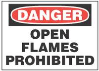 Danger Sign, Open Flames Prohibited