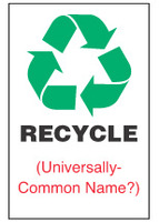 Recycle Sign, ___________ (With Symbol)