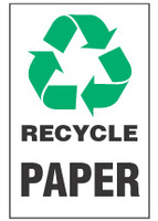 Recycle Sign, Paper (With Symbol)