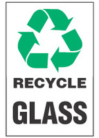 Recycle Sign, Glass (With Symbol)