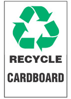 Recycle Sign, Cardboard (With Symbol)