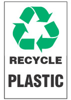 Recycle Sign, Plastic (With Symbol)