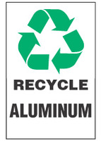 Recycle Sign, Aluminum (With Symbol)