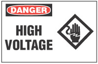 Danger Sign, High Voltage (With Symbol)