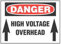 Danger Sign, High Voltage Overhead