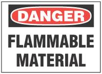 Danger Sign, Flammable Material