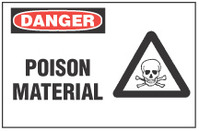 Danger Sign, Poison Material (With Symbol)