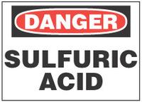 Danger Sign, Sulfuric Acid
