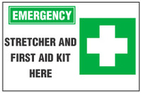 Emergency Sign, Stretch And First Aid Station (With Symbol)