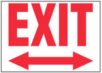 Exit Sign (Two-Way Arrow)