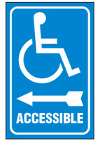 Handicapped Sign,Accessible (Left Arrow, With Symbol)