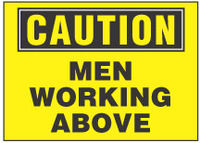 Caution Sign, Men Working Above (Yellow Background)