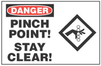 Danger Sign, Pinch Point! Stand Clear!