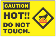 Caution Sign, Hot!! Do Not Touch