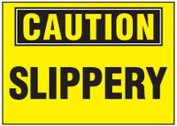 Caution Sign, Slippery (Yellow Background)