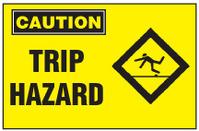 Caution Sign, Trip Hazard (With Symbol)