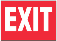 Exit Sign (Red Background)