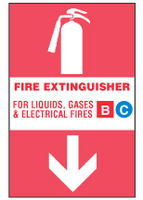 Fire Extinguisher Sign For Liquids, Gases And Electric Fires