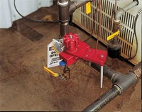 Small Universal Valve Lockout Base Clamping Unit