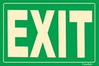 Flexible Glow-in-the-Dark Green Exit Sign with Adhesive Back