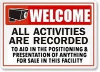 Welcome, All Activities Are Recorded To Aid In The Positioning