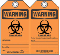 Safety Tag - Warning, Biohazard