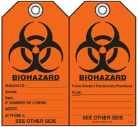 Safety Tag - Biohazard