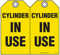 Safety Tag - Cylinder, In Use