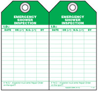 Inspection Safety Tag - Emergency Shower Inspection