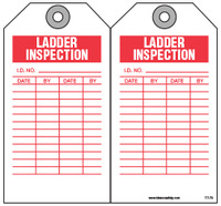 Inspection Safety Tag - Ladder Inspection