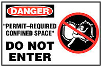Restricted Entry and Confined Space Signs